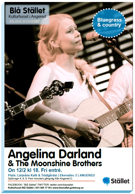 Angelina Darland & The Moonshine Brothers - Concert in Gothenburg